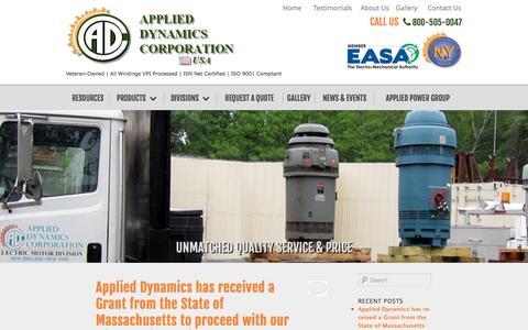 Screenshot of Blog applied-dynamics.com - Applied Dynamics Corporation | Just another WordPress site - captured Oct. 4, 2014