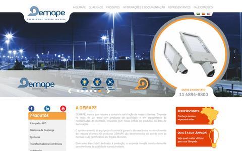 Screenshot of Home Page demape.com.br - Demape | Inovação e Energia - captured July 7, 2016