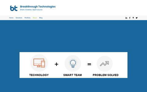 Screenshot of About Page breaktech.com - About | Breakthrough Technologies - captured Feb. 12, 2019