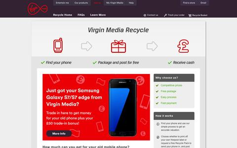 Mobile phone recycling - Sell your mobile phone - Virgin Media Mobile