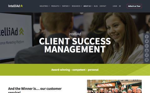 Screenshot of Support Page intelliad.com - Customer Service | intelliAd - captured Sept. 26, 2018
