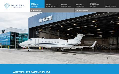 Screenshot of About Page aurorajet.ca - About Us | Aurora Jet Partners - captured Oct. 4, 2014