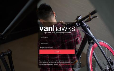 Screenshot of Login Page vanhawks.com - Vanhawks | Web - captured Aug. 12, 2016