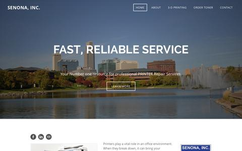 Screenshot of Home Page senonainc.com - SENONA, INC. - Fast and reliable printer repair services - captured Dec. 5, 2015