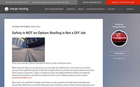 Screenshot of Blog designroofing.ca - Blog - Design Roofing - captured Nov. 3, 2014