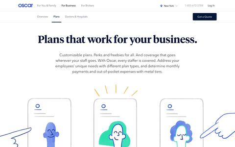 Oscar for Business | Group health insurance | Plans
