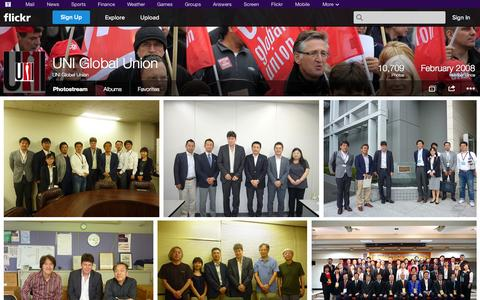 Screenshot of Flickr Page flickr.com - Flickr: UNI Global Union's Photostream - captured Oct. 23, 2014