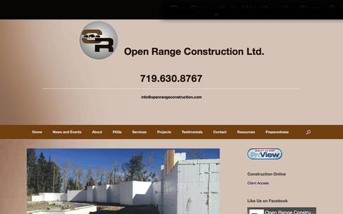 Screenshot of FAQ Page openrangeconstruction.com - FAQs – Open Range Construction Ltd. - captured Oct. 23, 2017