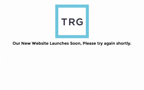 Screenshot of Home Page trg.org.uk - TRG - captured Feb. 18, 2016