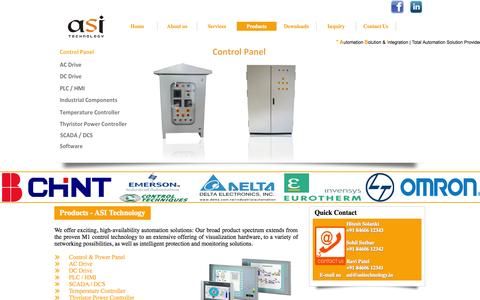 Screenshot of Products Page asitechnology.in - ASI Technology - Ahmedabad - captured Sept. 30, 2014