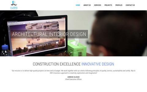 Screenshot of Home Page alhamadqatar.com - Al Hamad   CONSTRUCTION EXCELLENCE INNOVATIVE DESIGN - captured Nov. 20, 2016