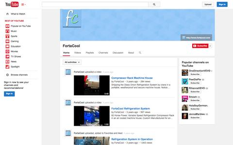 Screenshot of YouTube Page youtube.com - FortaCool  - YouTube - captured Oct. 23, 2014