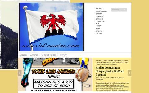 Screenshot of Home Page lacountea.com - La Countea : le blog du Comté de Nice | Aqui, Aià … Countea de Nissa - captured Oct. 16, 2015