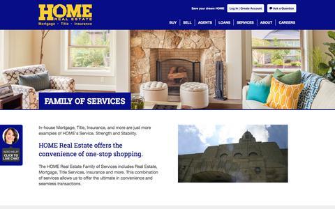 Screenshot of Services Page homerealestate.com - Services | Lincoln, NE Real Estate, Houses for Sale | Home Real Estate - captured July 21, 2018
