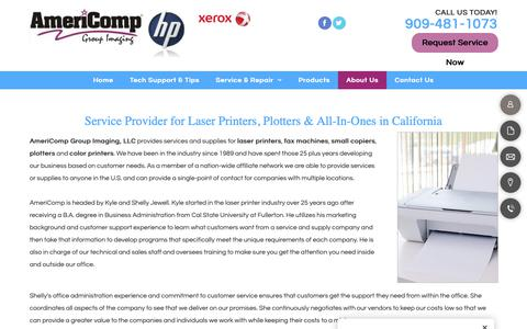 Screenshot of About Page americompgroup.com - Professional Printer Repair & Service | Alta Loma, CA | Americomp Group - captured Oct. 3, 2018