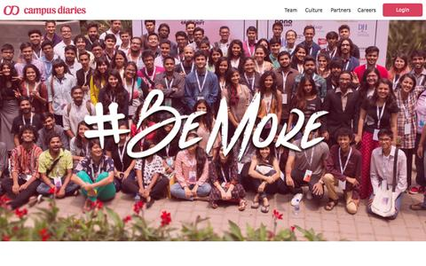 Screenshot of About Page campusdiaries.com - About Us | Campus Diaries - captured May 15, 2016