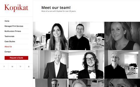 Screenshot of Team Page kopikat.ie - Our Team - Kopikat - captured July 14, 2018