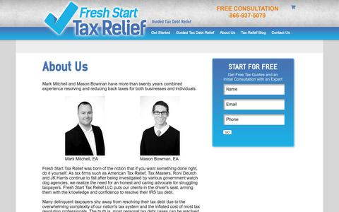 Screenshot of About Page freshstarttaxrelief.com - About Us | Fresh Start Tax Relief - captured Oct. 11, 2018