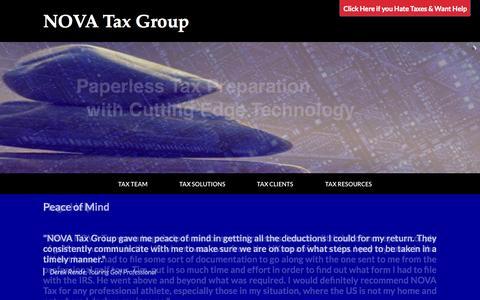 Screenshot of Home Page novataxgroup.com - Home - NOVA Tax Group - captured Jan. 26, 2015