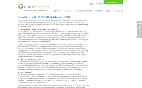 Terms and Conditions - Curant Health