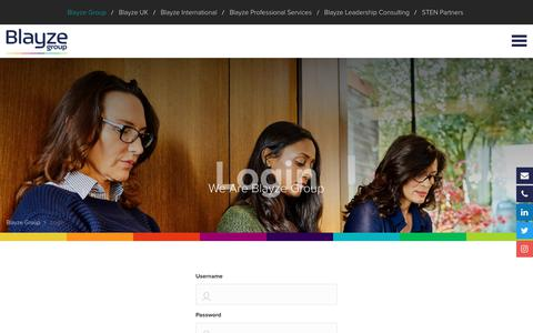 Screenshot of Login Page blayzegroup.com - Login - Blayze Group - captured June 14, 2019