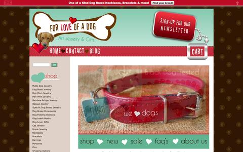 Screenshot of Home Page forloveofadog.com - Dog Lover Jewelry for People Gifts For Dogs - captured Sept. 30, 2014