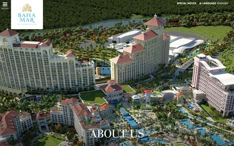 Screenshot of About Page bahamar.com - About us | Bahamas Luxury Casino and Resort | Baha Mar - captured Feb. 7, 2016
