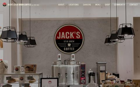 Screenshot of Home Page jacksstirbrew.com - Jack's Stir Brew CoffeeHome - captured March 3, 2016