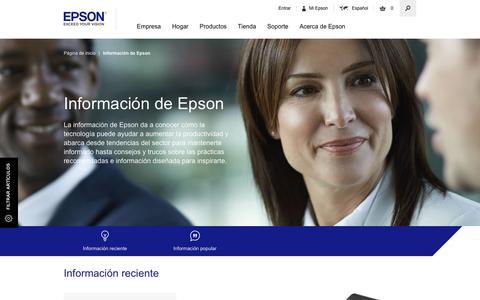 Screenshot of Press Page epson.es - Información de Epson - Epson - captured Sept. 3, 2016