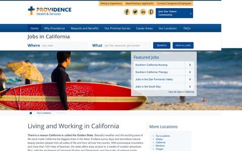Screenshot of Home Page providence-california.jobs - Providence California Jobs - captured Sept. 3, 2015