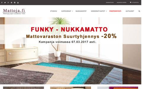 Screenshot of Home Page mattoja.fi - Nukkamatot, matot, mattoja, matto,nukkamatto, mattoja netistä - captured March 8, 2017