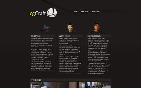Screenshot of Team Page cgcraft.com - cgCraft | web : print : animation | THE TEAM - captured Sept. 30, 2014