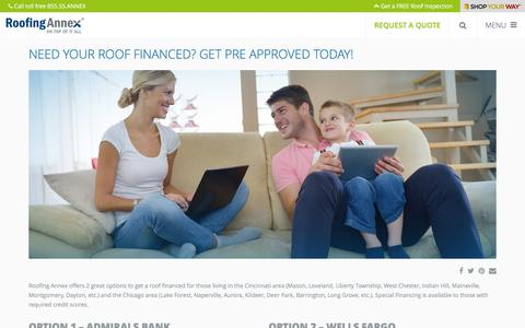 Screenshot of Signup Page roofingannex.com - Need Your Roof Financed? Get Pre Approved Today! - Roofing Annex - captured Dec. 5, 2015