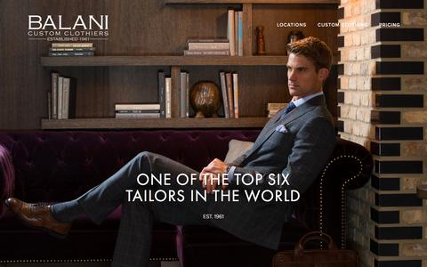 Screenshot of Home Page balanicustom.com - BALANI Custom Suits Chicago, IL - Bespoke tailored men's suits, shirts, and tuxedos - captured Oct. 10, 2016