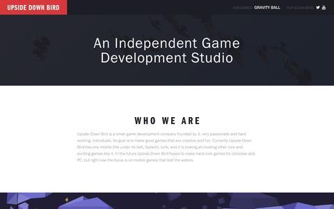 Screenshot of Home Page upsidedownbird.com - UpsideDown Bird   An Independent Game Development Studio - captured June 16, 2017