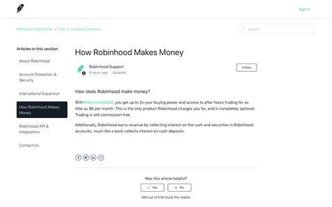 How Robinhood Makes Money – Robinhood Help Center