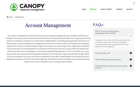 Screenshot of Team Page uncoversavings.com - Management | Canopy Expense Management - captured Oct. 1, 2014