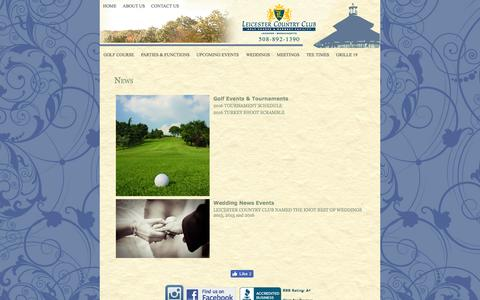 Screenshot of Press Page leicestercc.com - Leicester Country Club. Worcester Area Weddings and Special Events. - captured Nov. 6, 2016