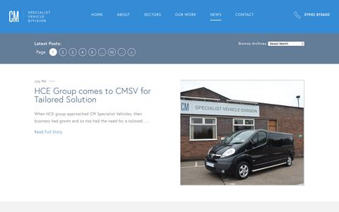 Screenshot of Press Page cmspecialistvehicles.co.uk - News | CM Specialist Vehicles - captured Sept. 25, 2018