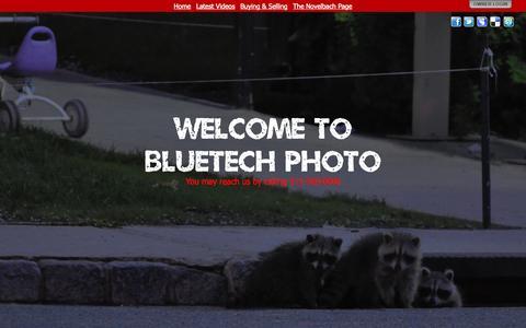 Screenshot of Home Page bluetechphoto.com - Welcome to Bluetech Photo - captured Sept. 30, 2014