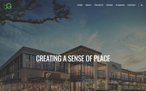 Screenshot of Home Page bdgap.com - Boucher Design Group – Boucher Design Group is an architectural firm offering a wide range of services in urban planning, architectural design & space planning. BDG is the leading firm in Houston for Retail and Mixed-Use. - captured July 5, 2017