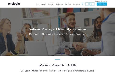 OneLogin MSP Program | Referral & Reseller Solutions | Single Sign-On (SSO) | Cloud Identity Management