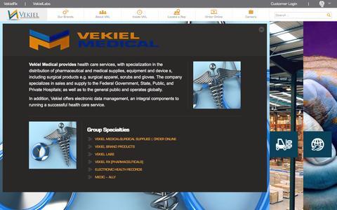 Screenshot of Home Page vekiel.com - Vekiel | Logistic and Medical Resources - captured Feb. 27, 2016
