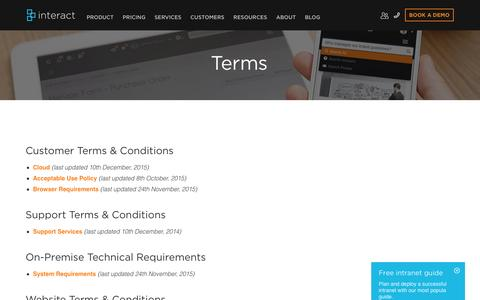 Terms | Interact Intranet Software