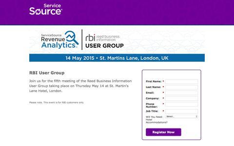 Screenshot of Landing Page servicesource.com - Recurring Revenue Summit 2015 - captured April 6, 2016