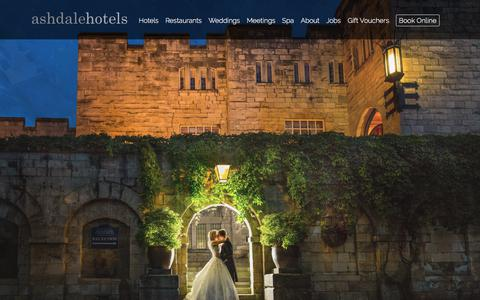 Screenshot of Home Page ashdalehotels.com - Luxury hotels UK, Conference venues & meeting rooms - Ashdale Hotels, Yorkshire - captured July 31, 2018