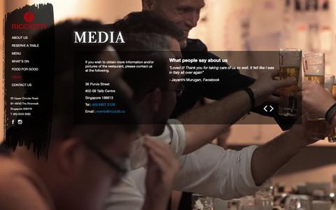 Screenshot of Press Page ricciotti.co - Media - Ricciotti - captured Oct. 18, 2018