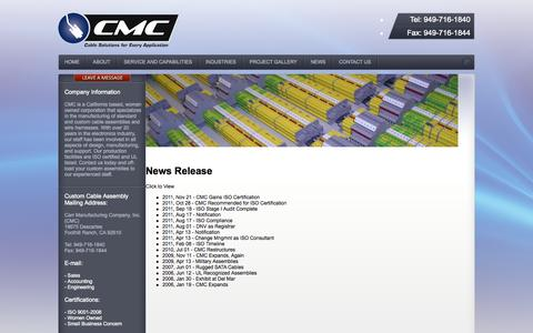 Screenshot of Press Page carrmfg.com - Carr Manufacturing Company | Printed Circuit Board | CarrMFG.com - captured Oct. 2, 2014