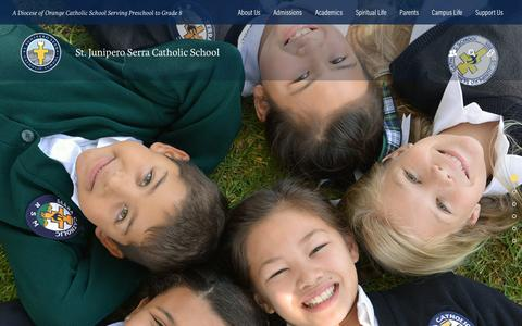 Screenshot of Home Page serraschool.org - St. Junipero Serra Catholic School - captured Dec. 3, 2016