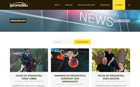 Screenshot of Press Page ipromoteu.com - NEWSROOM   Promotional Products Distributor   iPROMOTEu - captured June 30, 2019